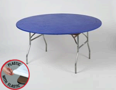 Blue Kwik Cover - 5' Round Table