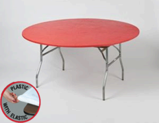 Red Kwik Cover - 5' Round Table