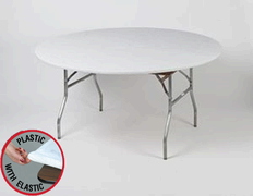 White Kwik Cover - 5' Round Table