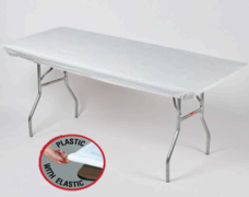 White Kwik Cover - 8' Table