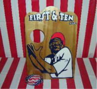 First and Ten Football Toss Carnival Game