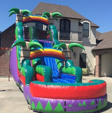 PURPLE RAINBOW 18' WATERSLIDE