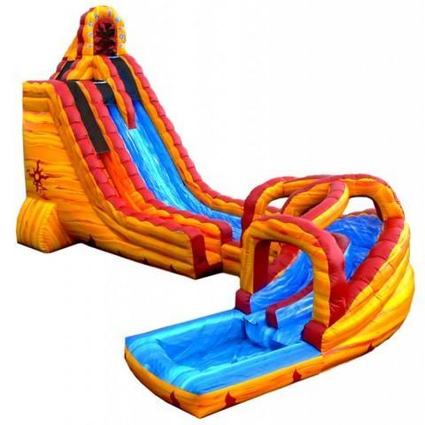 LAVA TWIST 27' DUAL LANE WATER SLIDE