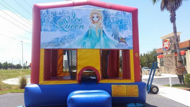 Frozen Ice Queen Bounce House