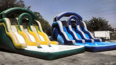 17 ft Triple Lane Water Slide