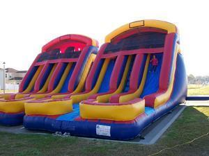 18 ft Double Lane Dry Slide 104
