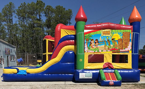 Luau Combo Bounce House