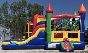 Ninja Turtles Combo Bounce House