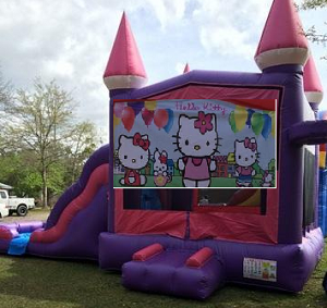 Pink Castle Hello Kitty Combo Bounce House