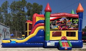 Race Car Combo Bounce House