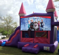 Pink Castle Frozen Combo Bounce House
