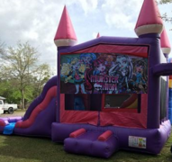 Pink Castle Monster High Combo Bounce House