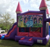 Pink Castle Princess Combo Bounce House