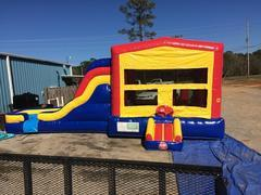 Water Slide & Bounce House Combo (173)Best for ages 4+Size 28'L x 16'W x 15'H **Most Popular Rental**