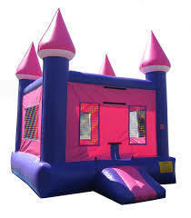 Pink Castle Bounce House 137
