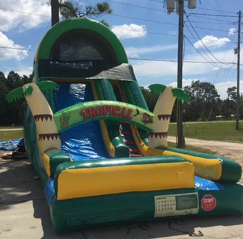 16 Foot Tropical Water Slide 188