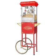 Red 8oz Popcorn Machine with Cart