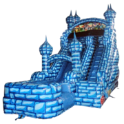 Blue Castle Water Slide (16