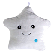 Light Up Star Pillow (White) ***For Purchase***