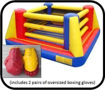Bouncy Boxing Ring with Gloves