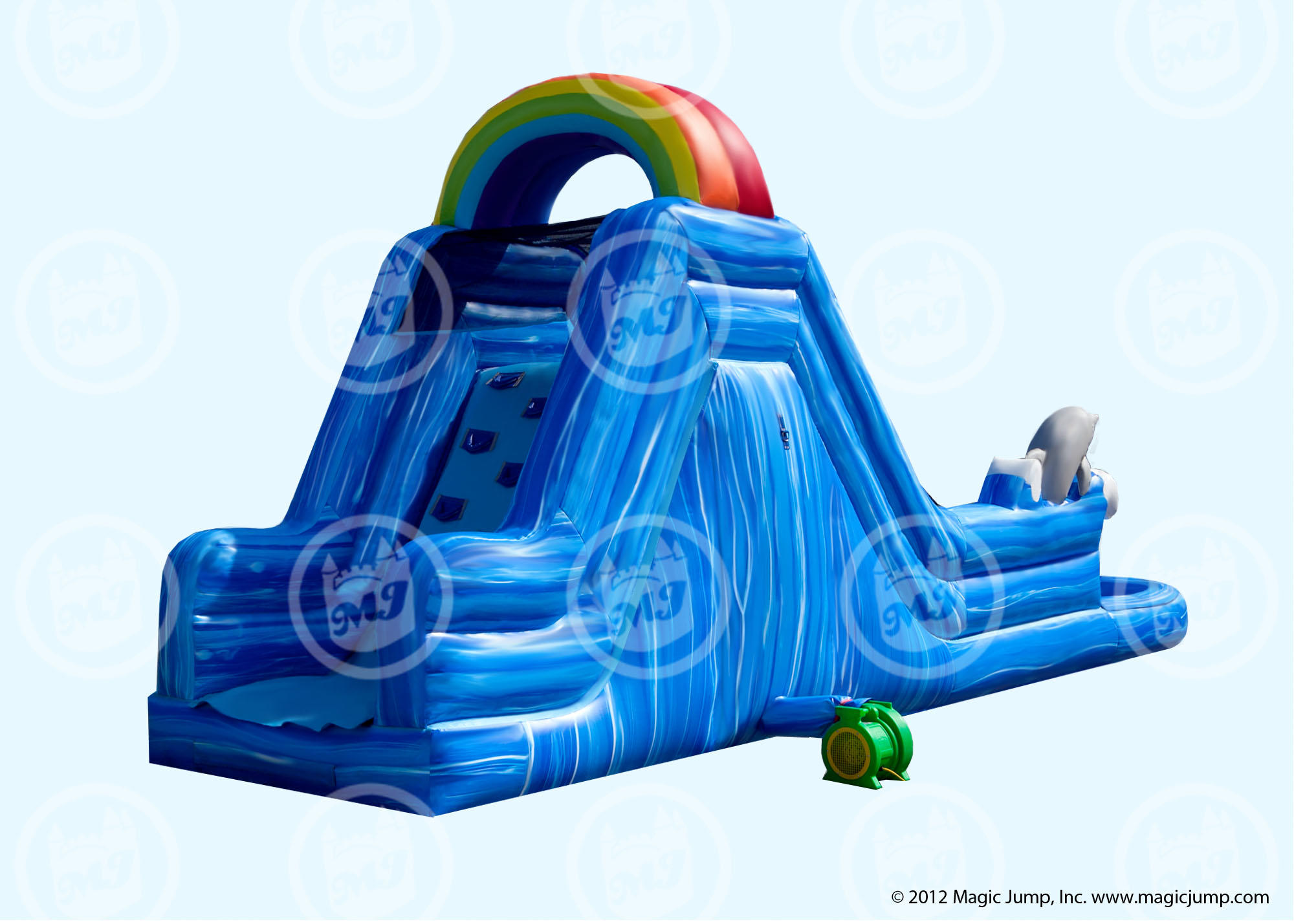 Dolphin-water-slide-rental-maine-and-New-Hampshire