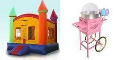2N1 Modular Bounce House and Cotton Candy Machine