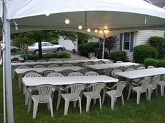 20 X 20 High Peak Frame Tent 5 Tables 50 Chairs