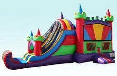 4n1 Colorful Water Combo Bounce House