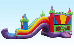 4n1 Curvy Combo Bounce House - WET W/POOL