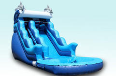 18ft Dolphin Splash Water Slide