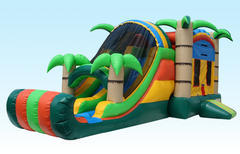 5n1 Tropical combo dual lane bounce House WET W/pool