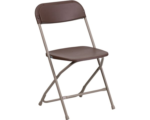 Brown Adult folding chairs (renter to set up)