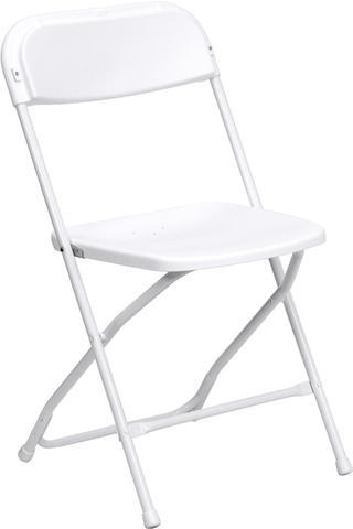 White Adult folding chairs (renter to setup)