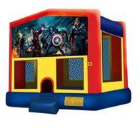 15 x 15 Avengers Moonwalk with Basketball Hoop