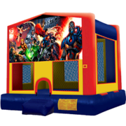 15 x 15 Justice League Moonwalk with Basketball Hoop