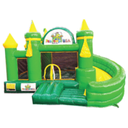 Green & Yellow Toddler Castle with Slide