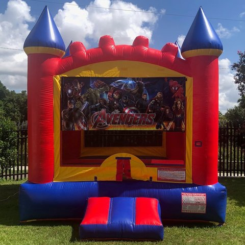 Avengers Castle Bounce House Rental