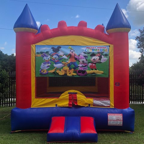 Mickey Mouse Castle Bounce House Rental
