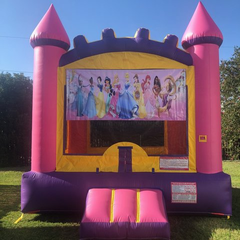 Pink Princess Bounce House Rental