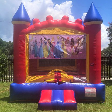 Red Princess Bounce House Rental