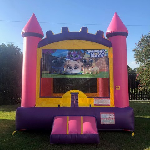 Pink Puppy Dog Pals Bounce House Rental