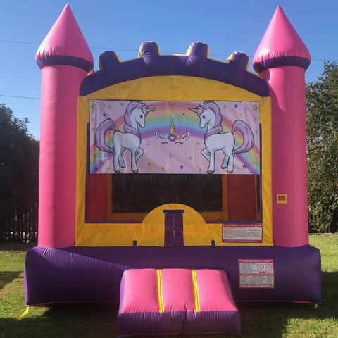 Pink Unicorn Bounce House Rental
