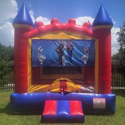 Frozen Castle Bounce House Rental