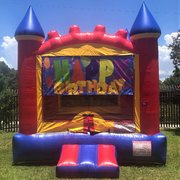 Happy Birthday Castle Bounce House Rental