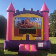 Purple Lion King Bounce House Rental