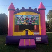 Pink Mickey Mouse Bounce House Rental