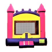 Pink Castle Bounce House Rental