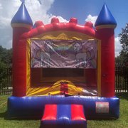 Unicorn Castle Bounce House Rental