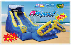 19 ft Wipe Out Water Slide