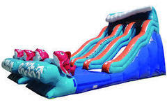 Double Lane 20' Big kahuna Water Slide